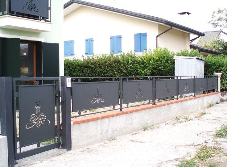Cancelletto pedonale, recinzione e parapetto per terrazza