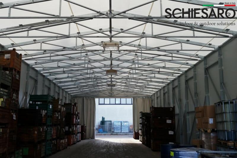 capannone copri scopri: il cantiere di Padova