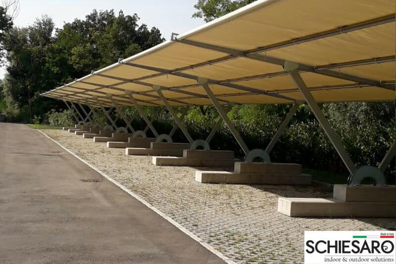 Carport in acciaio zincato a caldo a Reggio Emilia